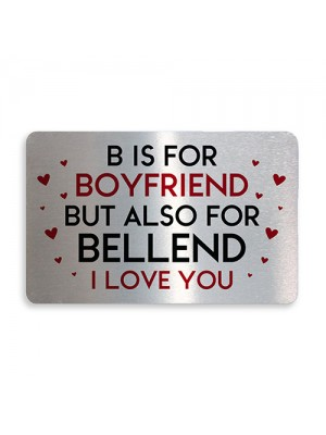 Novelty Valentines Gift For Boyfriend Metal Wallet Card Gift