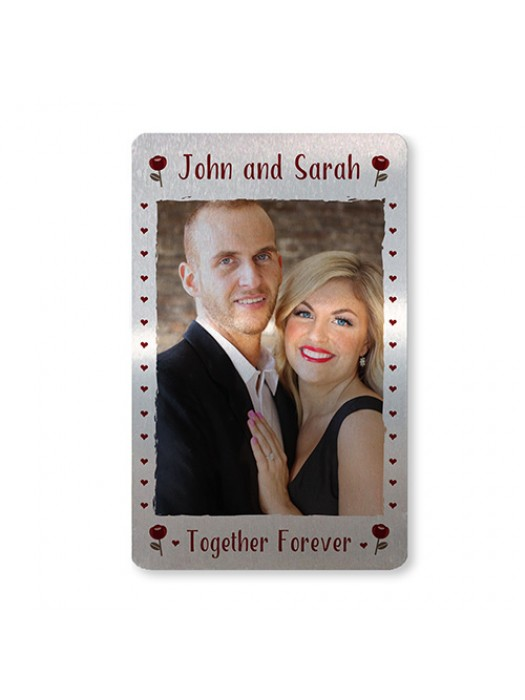 Personalised Anniversary Gift For Him Metal Wallet Photo Card