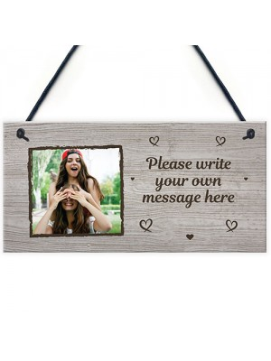 Best Friend Gift Personalised Photo Plaque Custom Gift