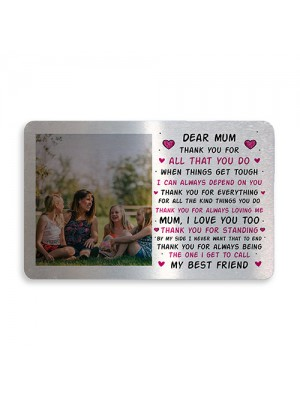 Personalised Photo Gift For Mothers Day Novelty Mum Gift