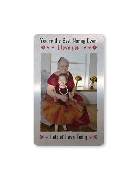 Personalised Mothers Day Gifts For Nanny Metal Wallet Insert
