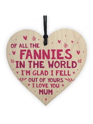 Funny Mothers Day Birthday Gift For Mum Wood Heart Daughter Son