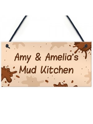 Personalised Playroom Sign Mud Kitchen Home School Garden Sign