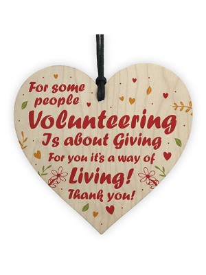 Novelty Thank You Gift For Volunteer Wooden Heart Colleague Gift