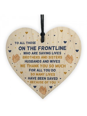 Thank You Gift For NHS Nurses And Doctors Wooden Heart Poem