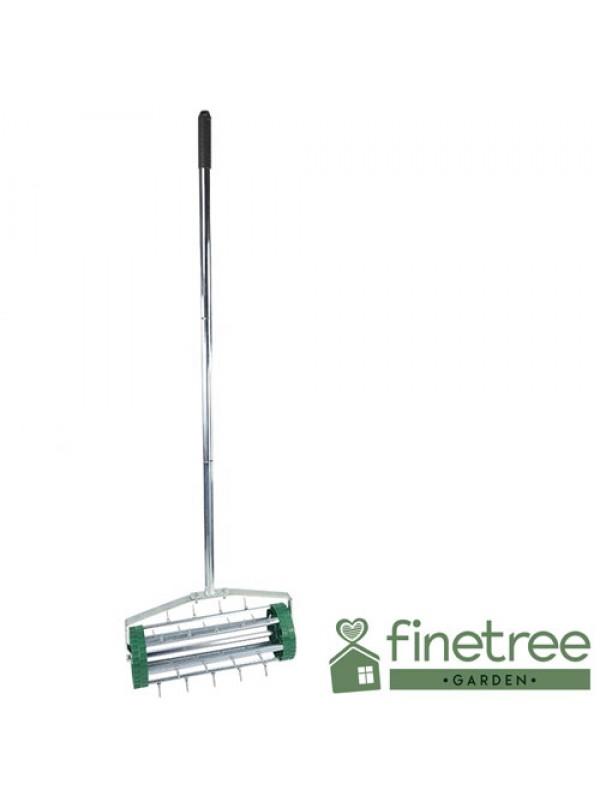 Gardening Lawn Aerator Grass Spike Roller Telescopic Handle