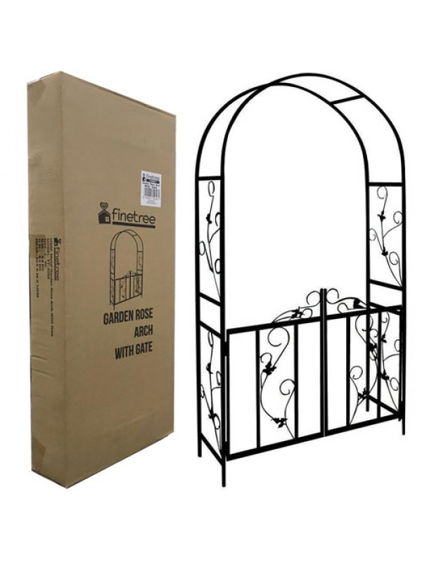 Metal Garden Arch Arbours Rose Arches with Gate