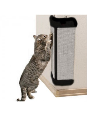 Corner Cat Kitten Sisal Scratching Board - Black / Grey