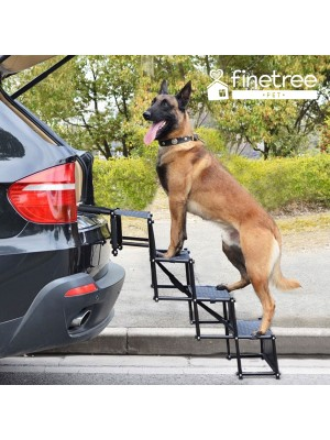 Folding Pet Dog Car Boot Access Steps Ladder Heavy Duty