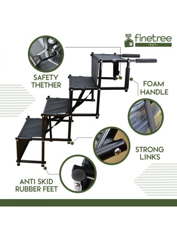 Folding Pet Dog Car Boot Access Steps Ladder Heavy Duty
