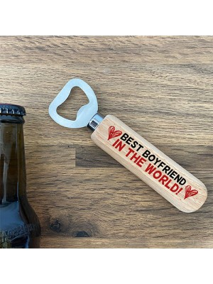 Wooden Bottle Opener Gift For Boyfriend Anniversary Gifts