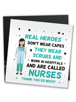 Thank You Gift For Nurse NHS Hospital Gift Hanging Plaque