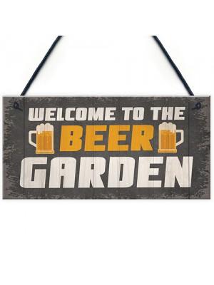 Novelty Beer Garden Sign Funny Garden Accessories Home Decor