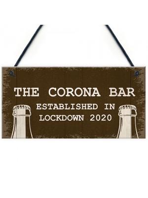 Corona Bar Sign For Garden Man Cave Home Bar Hanging Bar Sign