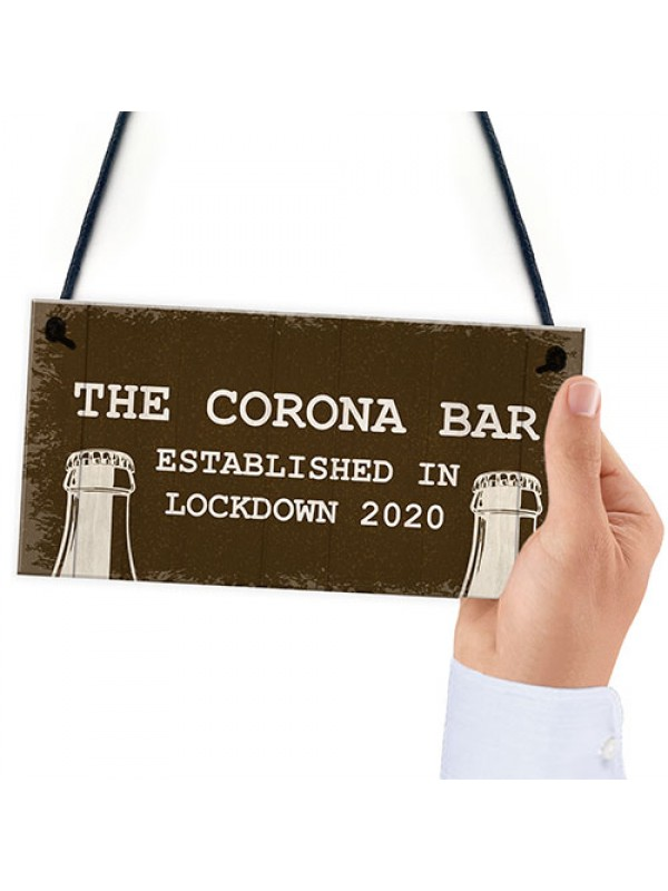 Corona Bar Sign For Garden Man Cave Home Bar Hanging Bar Sign