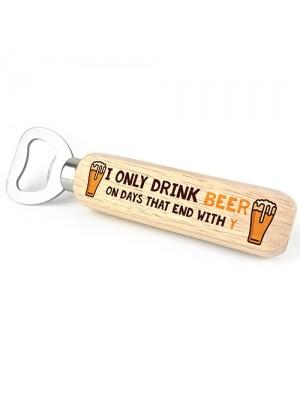 Funny Gift For Men Alcohol Gift Wooden Bottle Opener 40th 50th