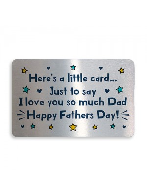 Fathers Day Gift For Dad From Daughter Son Metal Wallet Insert