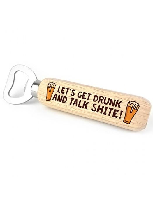 Funny Gift For Men Wooden Bottle Opener Alcohol Gift Dad Son