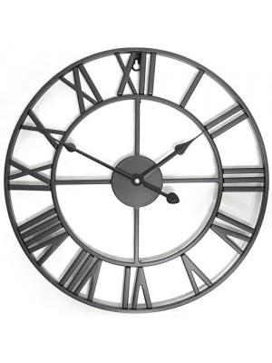 LARGE METAL GARDEN WALL CLOCK Skeleton Clock Roman Numeral 40 CM