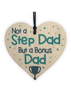 Novelty Gift For Step Dad Fathers Day Gifts For Step Dad Heart