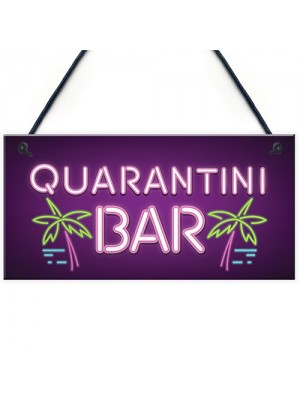 Novelty Quarantine Bar Signs And Plaques Bar Man Cave Gifts