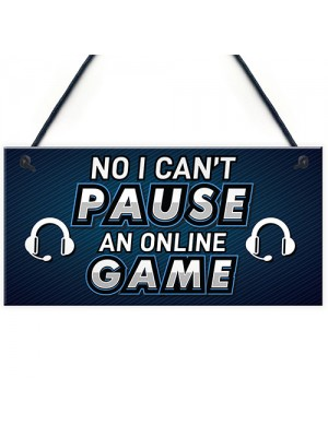 Funny Gamer Gift Gaming Sign For Boys Bedroom Man Cave Gift