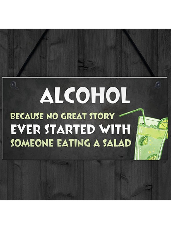 Funny Alcohol Gift Hanging Home Bar Pub Garden Sign Gin Beer