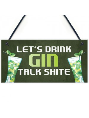 Funny Gin Bar Sign Hanging Home Bar Plaque Gin Gift For Him Her
