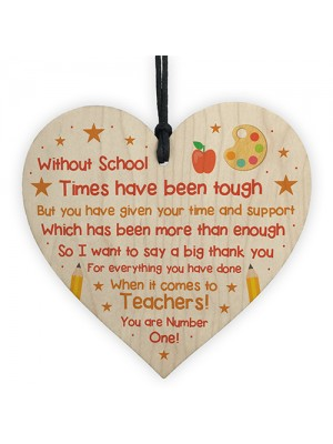 Teacher Thank You Poem Gift Lockdown Quarantine Gift Heart