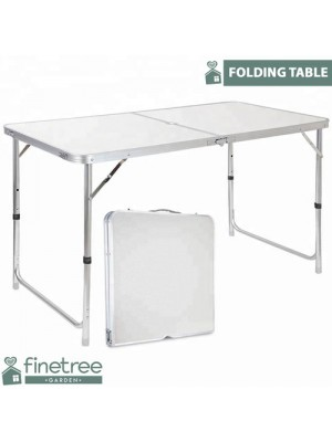 4FT HEAVY DUTY FOLDING TABLE PORTABLE PLASTIC CAMPING GARDEN