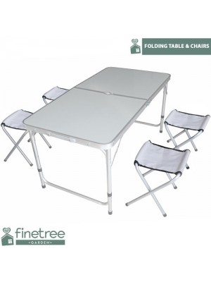 4FT Portable Folding Camping Picnic Table Party Outdoor BBQ
