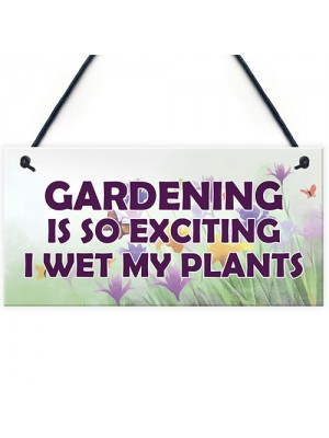 Funny Garden Sign Hanging Plaque Summerhouse Shed Decor