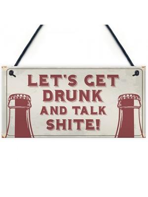 FUNNY Rude Bar Sign For Garden Man Cave Pub Bar Beer Vodka