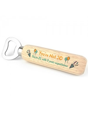 Quirky 30th Birthday Gift For Him Her Bottle Opener Alcohol Gift