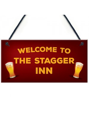 Funny Bar Welcome Sign For Home Bar Man Cave Garden Gifts
