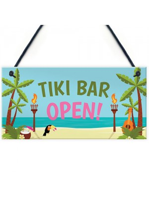 Welcome Tiki Bar Signs Novelty Bar Decor Gifts Hanging Signs