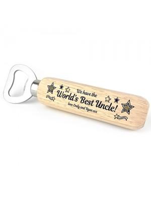 Worlds Best Uncle Gift PERSONALISED Bottle Opener Birthday Xmas