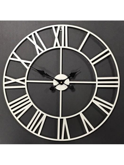 LARGE METAL GARDEN WALL CLOCK Skeleton Clock Roman Numeral 60 CM