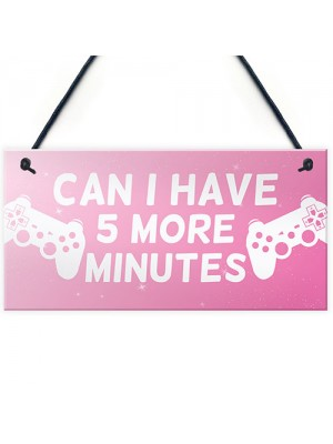 Funny Girls Bedroom Sign GIRL GAMER Gift For Daughter