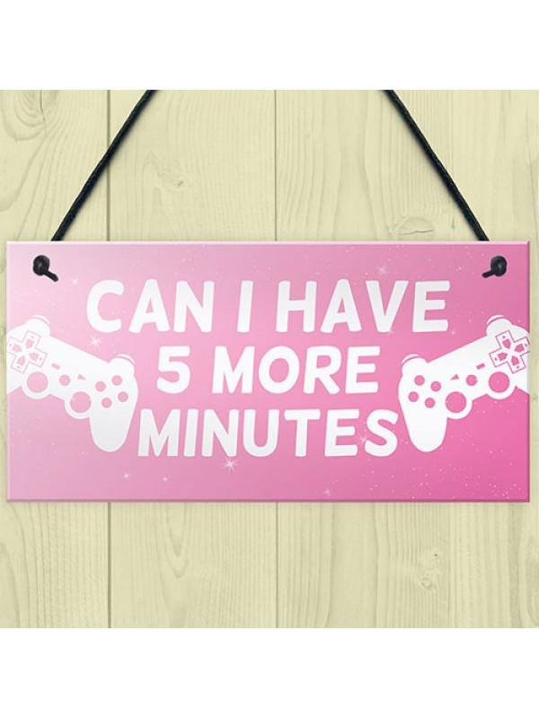 Funny Girls Bedroom Sign GIRL GAMER Gift For Daughter