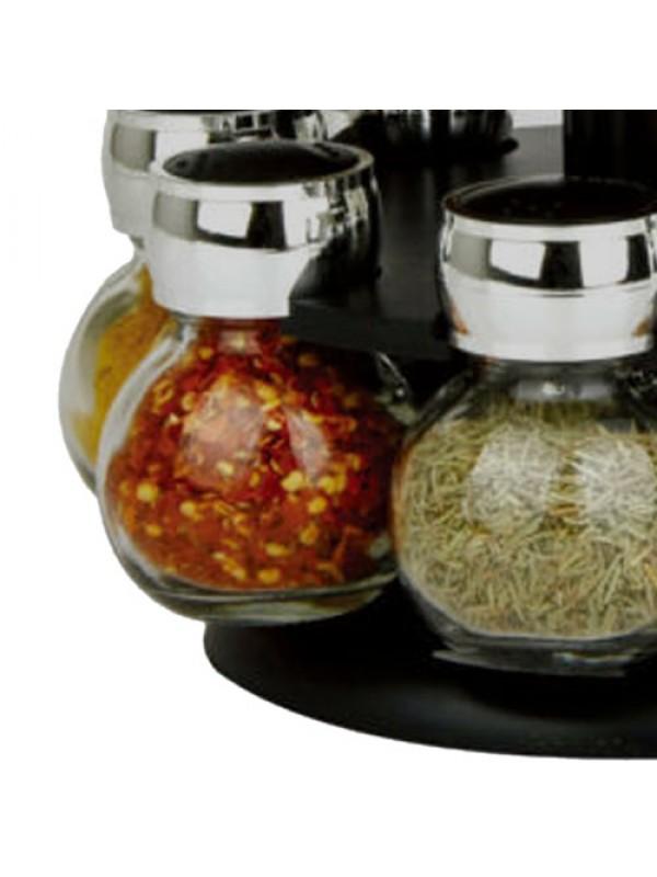 Revolving Rotating Plastic 16 Jar Spice Rack