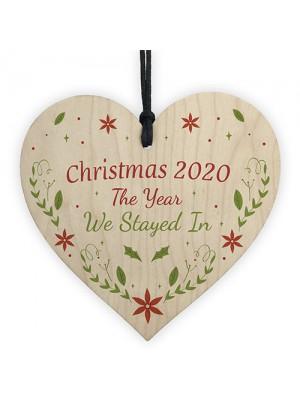 Novelty Christmas 2020 Decoration Quarantine Gift Hanging Wood