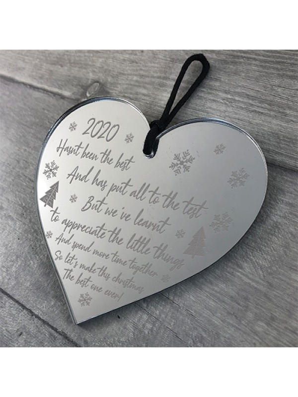 Engraved Christmas Bauble Tree Decoration Lockdown Gift
