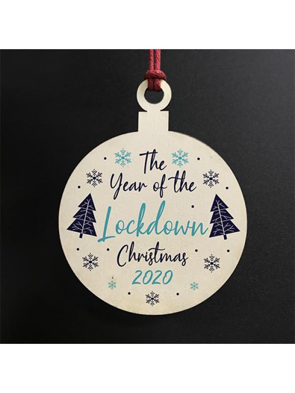 Christmas Lockdown Personalised Bauble 2020 Tree Decoration
