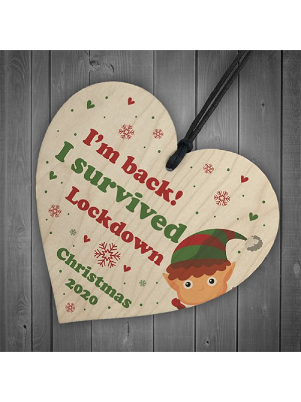 Funny Lockdown Christmas Decoration For Daughter Son Elf Sign