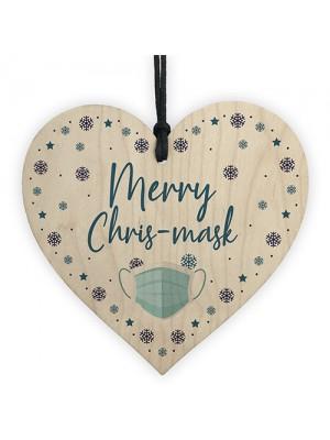 Funny Christmas Tree Decoration Heart Lockdown Quarantine