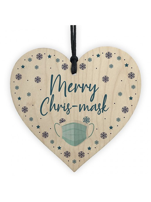 Funny Christmas Tree Decoration Heart Lockdown Quarantine