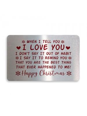 Happy Christmas Gift Card Husband Wife Boyfriend Girlfriend