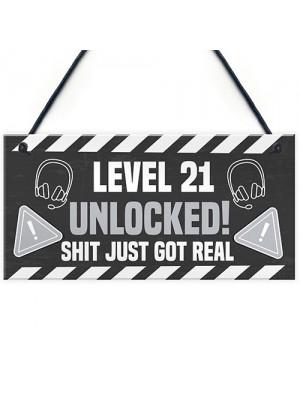 21st Birthday Gift Gamer Level Unlocked Gift For Him Her Men
