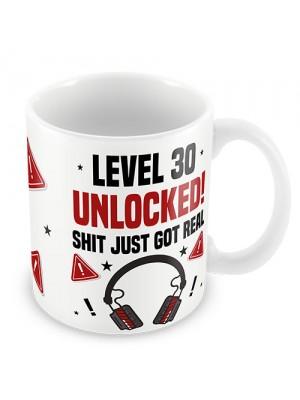 30th Birthday Mug Gamer Level Unlocked Gift For Him Her Men